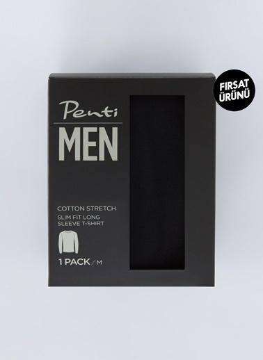 Penti Siyah Basic Slim Tişört Siyah